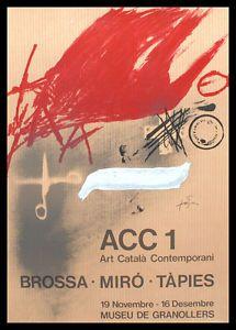 Antoni Tapies ACC 1 Granollers 1977 Poster Bild Kunstdruck im Alu Rahmen 70x50cm   eBay