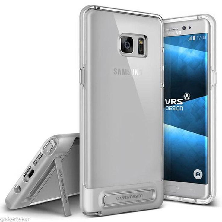 VRS Design Crystal Bumper Kickstand Case for Samsung Galaxy Note 7 -Light Silver