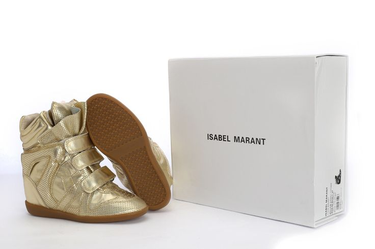 Isabel Marant Wedge Sneakers High Top Suede Leather Golden ¥299.00 http://www.marantoutlet.com/cheap-isabel-marant-wedge-sneakers-high-top-suede-leather-golden_25.html