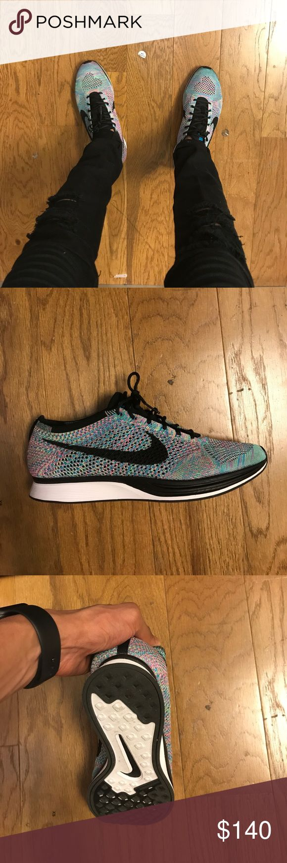 Nike flyknit racer (multicolor ) Lightweight running shoe Nike Shoes Athletic Shoes