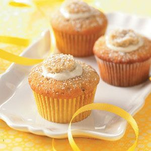 Cream-Filled Banana Cupcakes -- these sound so yummy, but cannot make for my hubby (no bananas for him!)