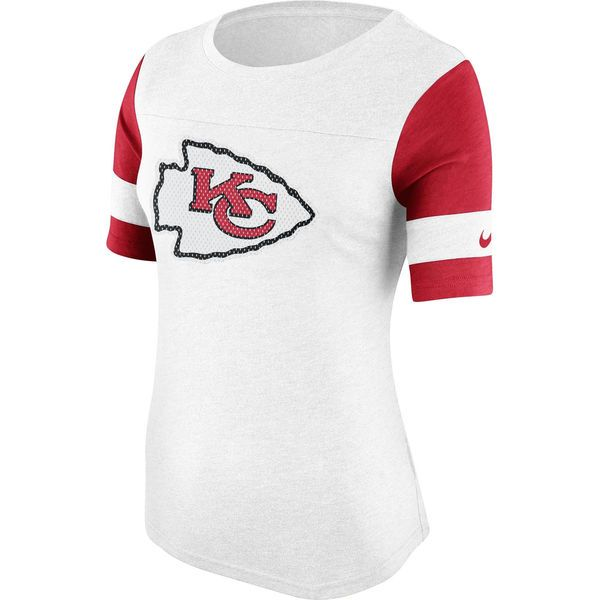Kansas City Chiefs Nike Women's Stadium Fan Top - White - $41.99