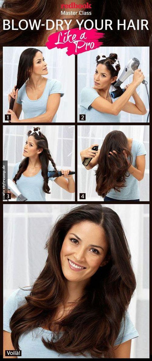 Haare richtig föhnen!