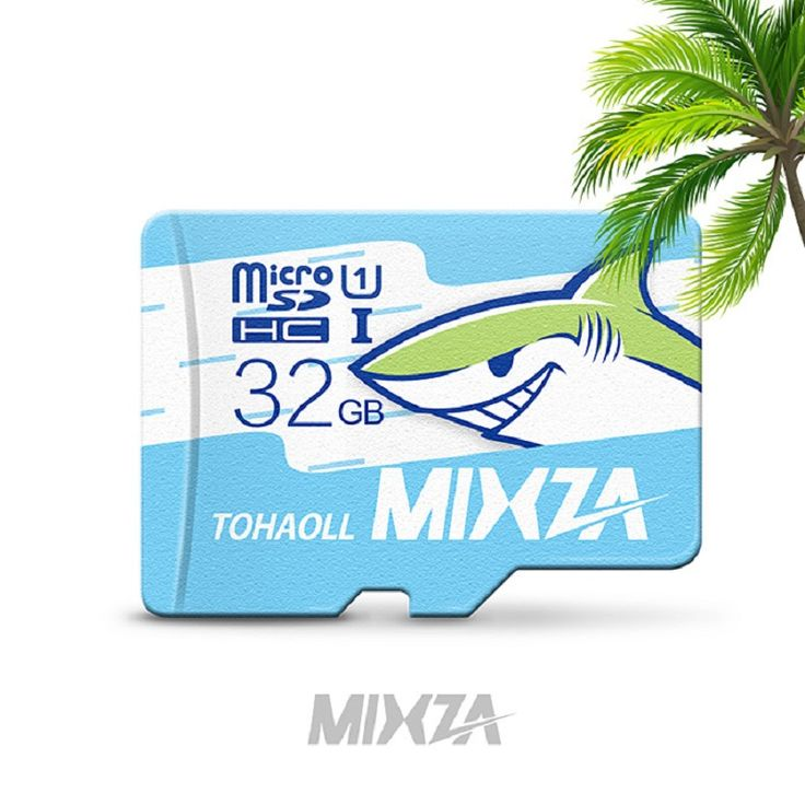 MIXZA Ocean Shark Series Class 10 Micro SD Card Up to 80MB/s TF Card 8GB /16GB/32GB/64GB /128GB/256GB Flash Card For Smartphone //Price: $0.00//     #onlineshop