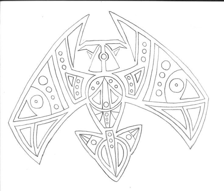 aves de simetría_diseño geometrico