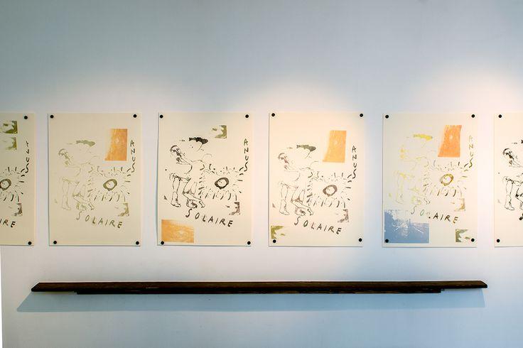 Untitled Natsuko Uchino, Magni Borgehed and Matthew Lutz-Kinoy Silk screen on paper 100x70 cm