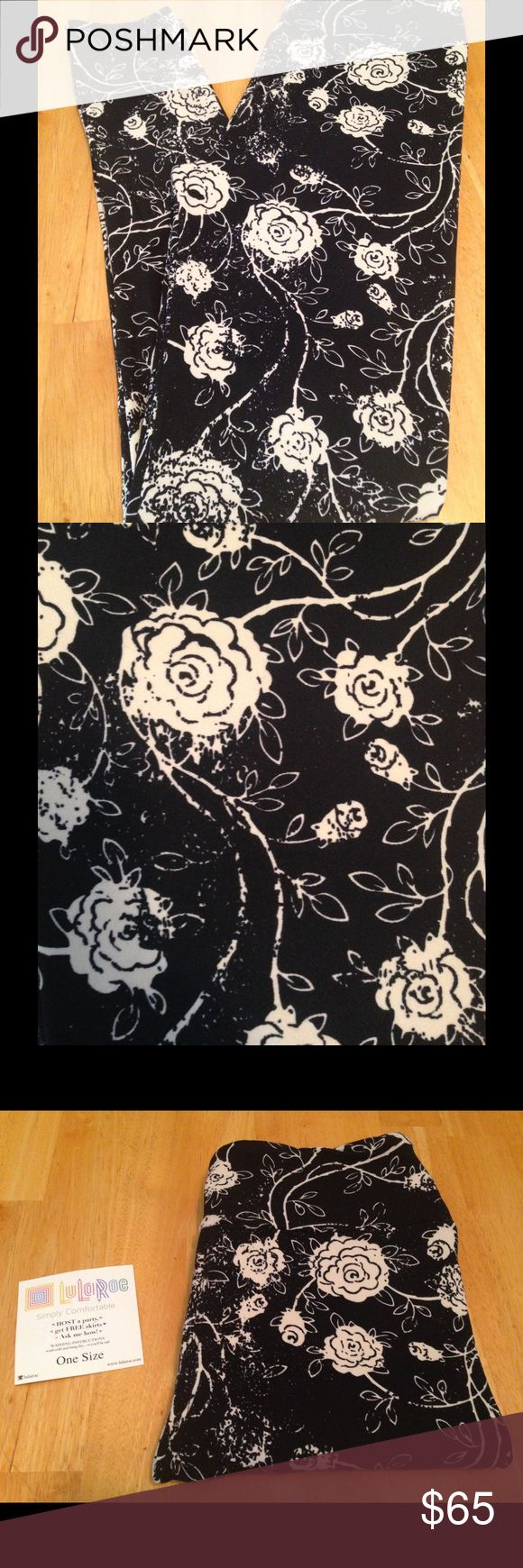 🆕LuLaRoe VHTF Beautiful Roses Leggings NWT Beautiful Off White Roses With A Black Background. Very Hard To Find! New 2017 Print! Thoroughly Inspected For Defects and They Are In Perfect Condition! Never Worn Or Tried On. Made In Vietnam. **Act Fast They Won't Last Long and This Listing Will Only Be Posted For A Limited Time!** LuLaRoe Pants Leggings