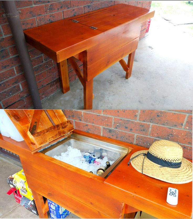 used pallet furniture. recycled wood pallet cooler ideas used furniture