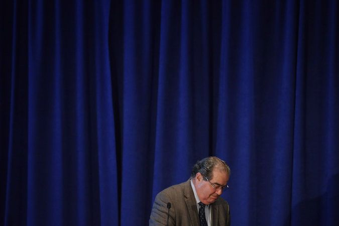 Justice Scalia's Majoritarian Theocracy  By Posner and Segall Justice Scalia seems to want to turn the Constitution upside down when it comes to government and religion.