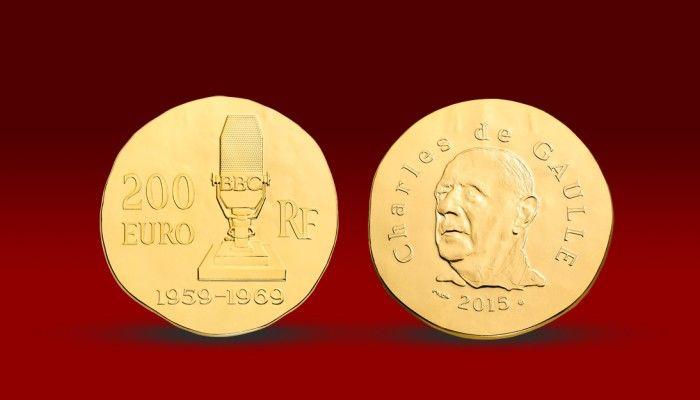 Francouzský prezident Charles de Gaulle na minci z 1 oz ryzího zlata #gold #goldcoin #charlesdegaulle #coincollecting #numismatics #narodnipokladnice