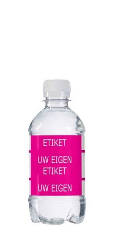 Ontwerp zelf het etiket op een flesje water.