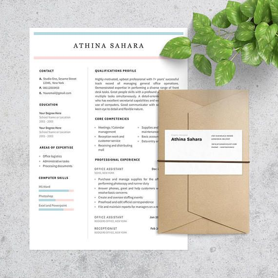 Office Assistant Resume Template Cover Letter Included