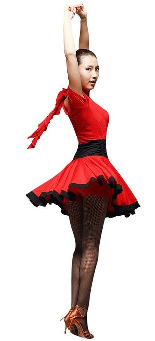 : Faship Ballroom Custume dance dress Latin Tango Rumba Salsa Party Competition: Clothing