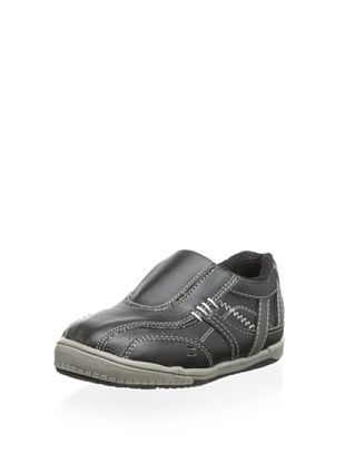 57% OFF Joseph Allen Kid's Slip-On Casual Shoe (Black Crazy Horse)