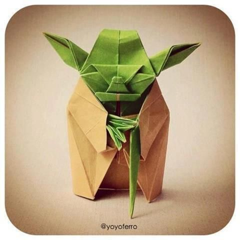 Meet his cousin, Folda.Geek, Ideas, Stuff, Art, Stars Wars, Things, Origami Yoda, Crafts, Starwars