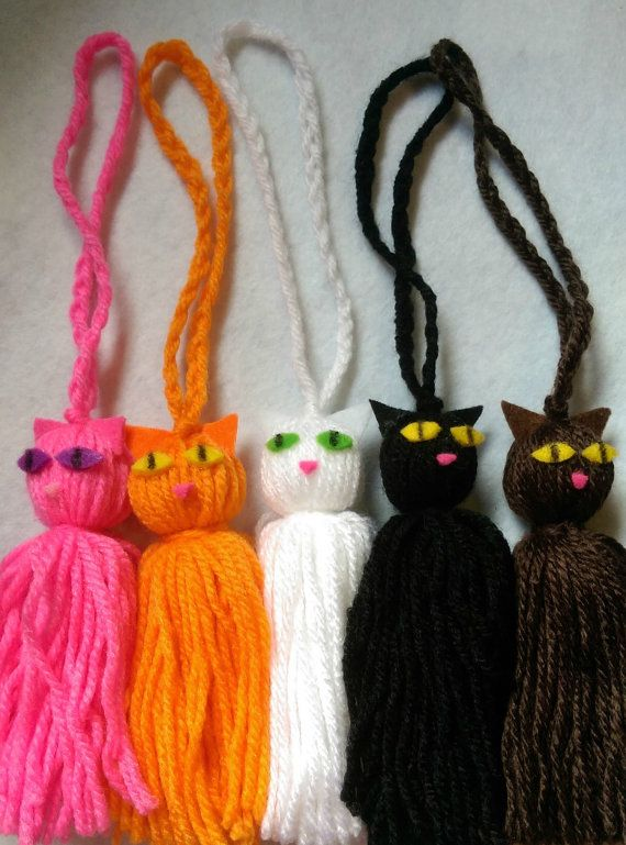 Kitty Cat Tassel In Your Choice Of Colours