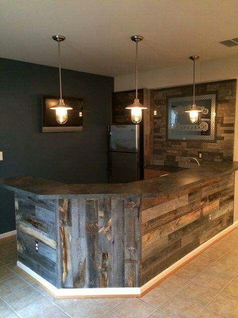 Love the wood idea/ dark background. Need bright lighting on back wall