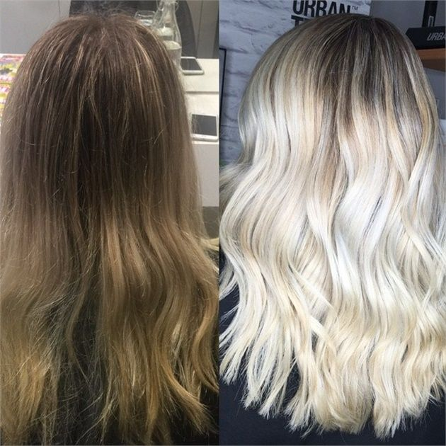 Babylights and Balayage for a Platinum Blonde with Paul Mitchell - Hair Color - Modern Salon