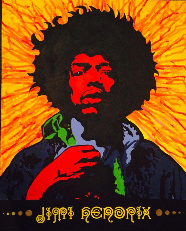 Jimi Hendrix . . .  . . . . . . .  Acrylic on canvas (50 X 60cm) By . . K . s . . .