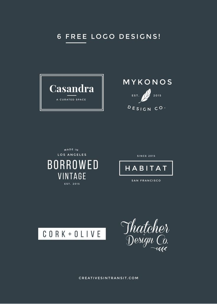 Naming Your Blog and Business + Free Editable Logos in Illustrator and Photoshop. Get modern, minimal logo templates.