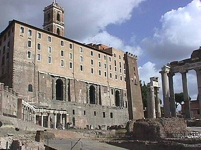 Tabularium... the records and archives of the Roman state were kept here