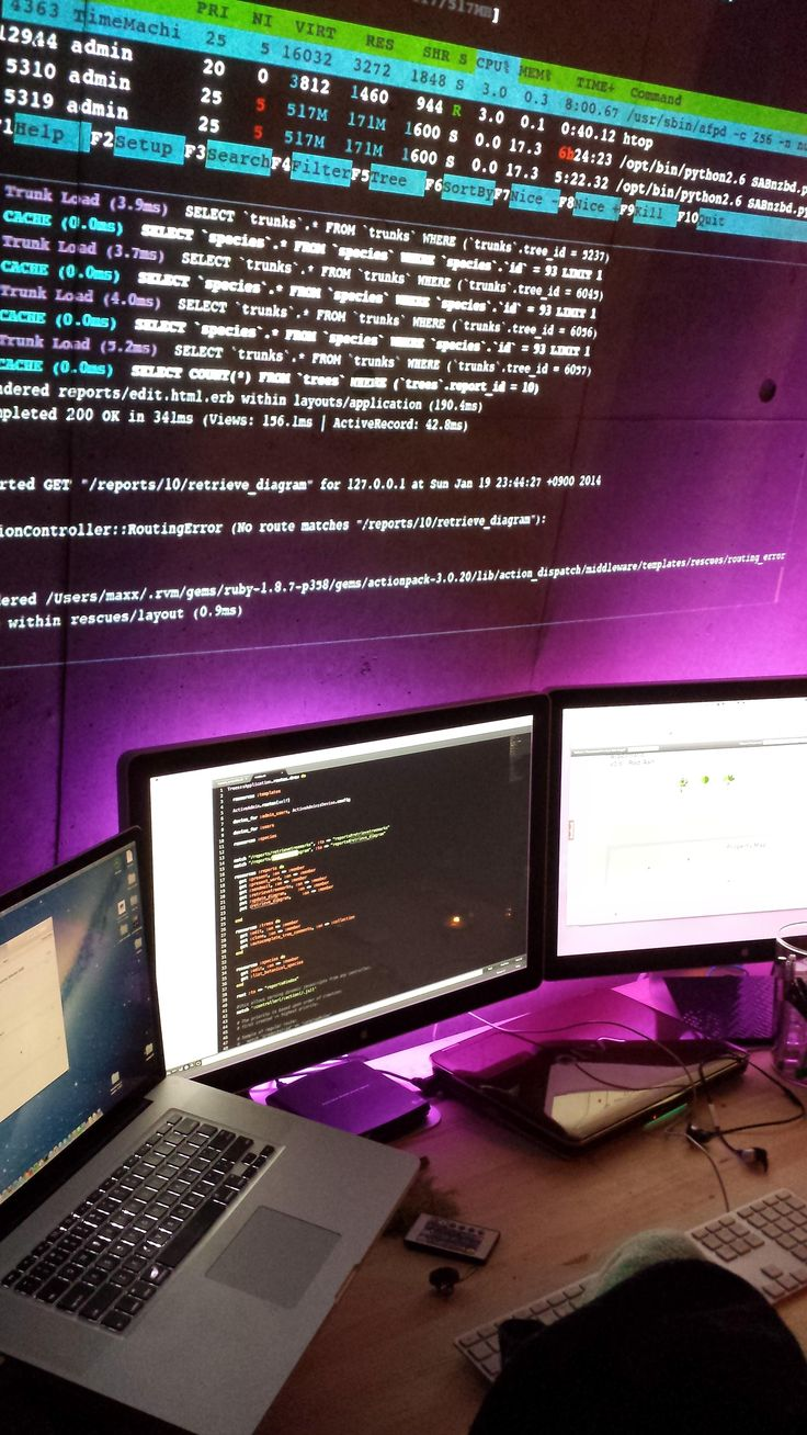 """Concrete wall projection and monitors driven from 17"""" MBP! A little different. - Album on Imgur"""