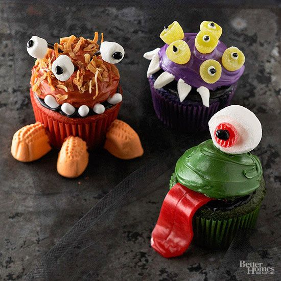 With a little imagination, each monster cupcake creation can be unique.