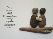 Bild aus Kieselsteinen *Freundschaft*