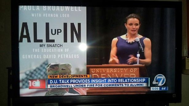 """KMGH airs wrong book cover for David Petraeus mistress Paul Broadwell: """"All Up in My Snatch"""""""