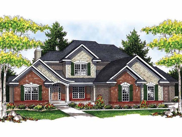 Eplans French Country House Plan Charming Two Story Home