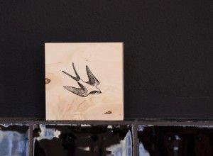 Houten tegel - Sparrow 2 - - Stoeruh Zaken