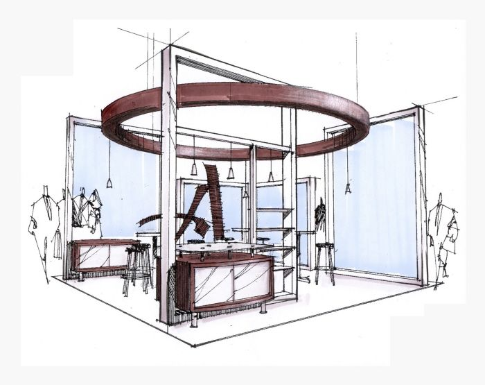 Exhibition Stand Interiors : Scott wojda sketches exhibition design inspiration