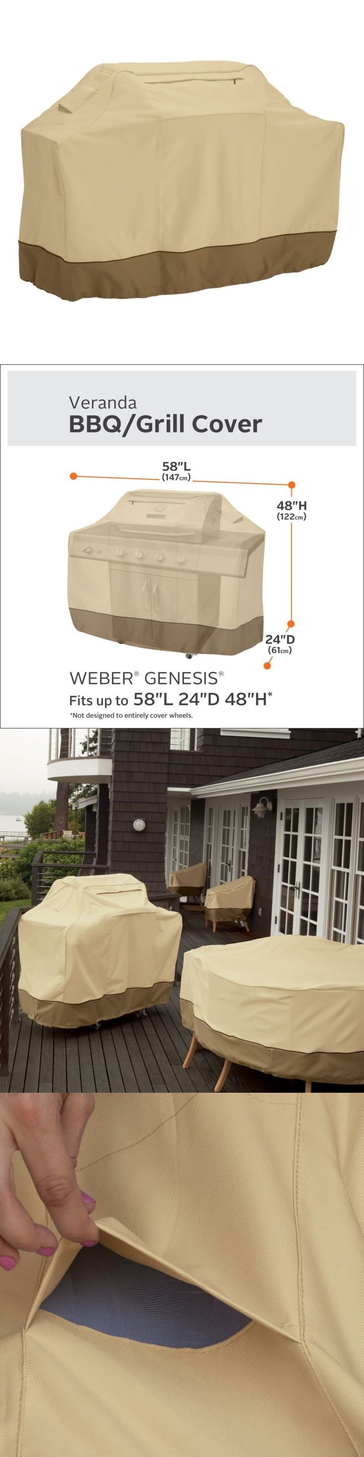 barbecue and grill covers grill cover bbq gas barbecue 58 beige heavy duty waterproof