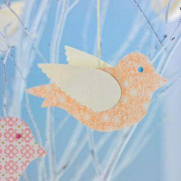 Easily craft this paper bird ornament to get your decor ready for spring.
