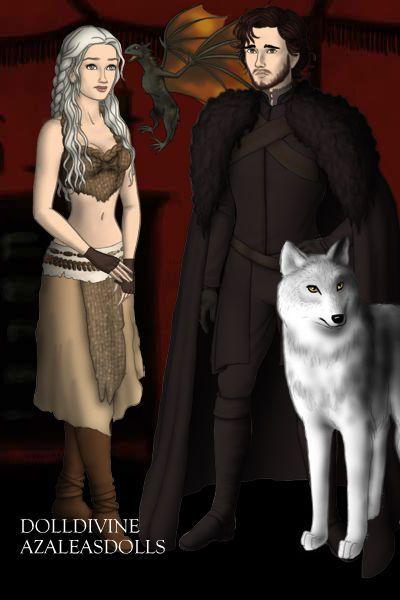 Daenerys Targaryen and Jon Snow by itoldher ~ High Fantasy Dress Up