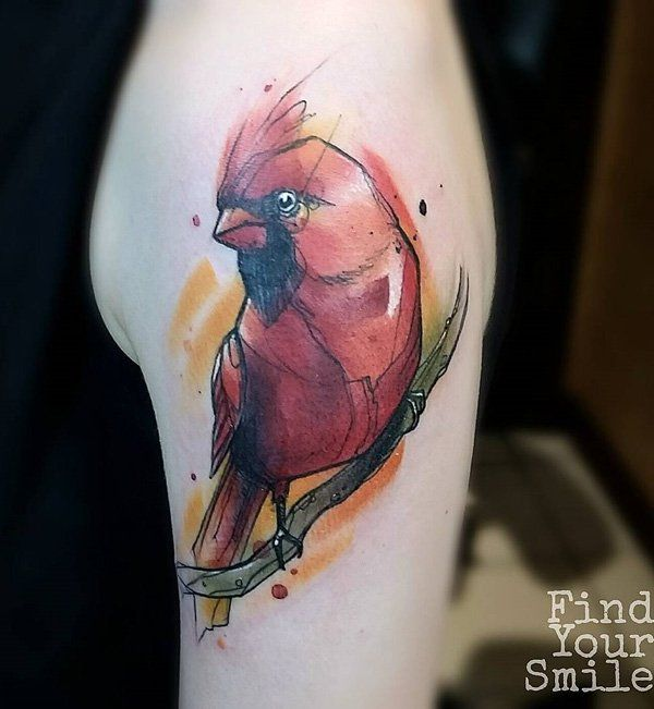Best 25 cardinal bird tattoos ideas on pinterest bird for Small cardinal tattoo