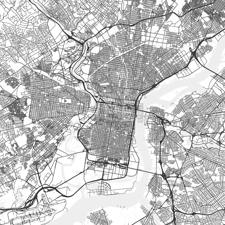 Philadelphia downtown and surroundings Map in light shaded version with many details for high zoom levels. This map of Philadelphia contains typical l... ... #map #download #citymap #areamap #usa #background #clean #city #area #modern #landmarks #ui #ux #hebstreit