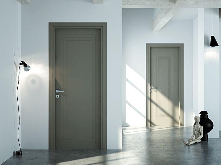 FBP porte | Collezione AGATA Mod. Agata e Agata R - Colore: laccata grigio quarzo #fbp #porte #legno #door #wood #varnished #interiors #woodcut #madeinitaly