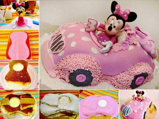 Minnie Mouse Car Cake Tutorial