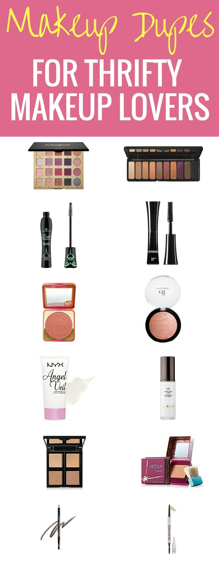 This is your ultimate list of makeup dupes for thrifty makeup lovers