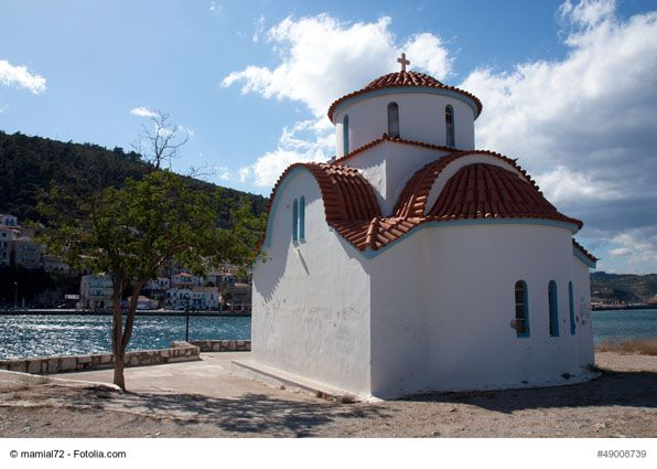 Church of Agios Petros, Gythion, Greece - It is one of the attractions of the picturesque town of Gythion, the capital town of Mani. The church is situated on an islet and offers wonderful views of the harbor and the sea.