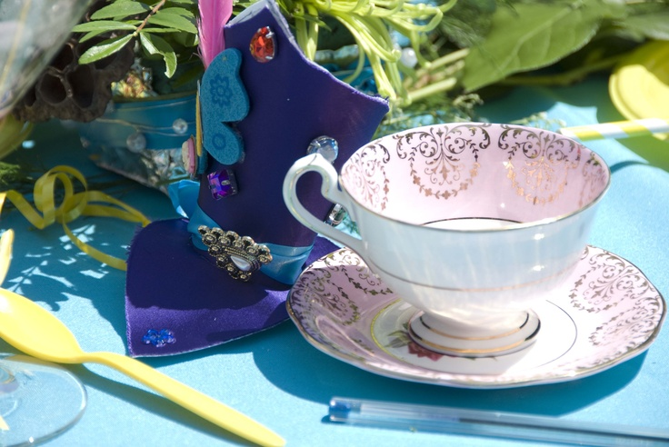 Alice in Wonderland tea party theme bridal shower