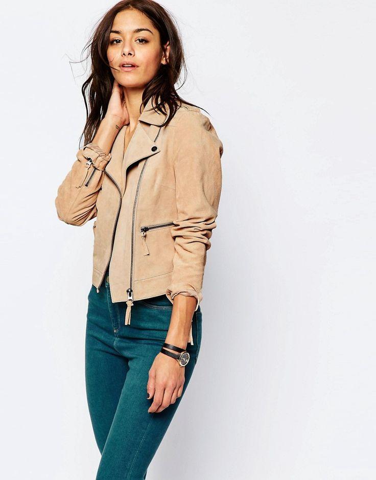 #Asos | BLOUSON MOTARD EN DAIM | #mode #femme #veste #shopping #lifestylemode