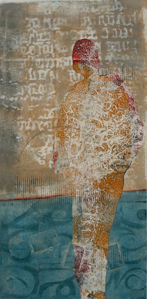 """Marking a Moment by Anne Moore (New Work, 20"""" x 10"""" block)"""
