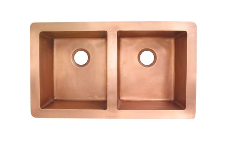 Double bowl copper sink from the Copperstore.co.uk | Remodelista