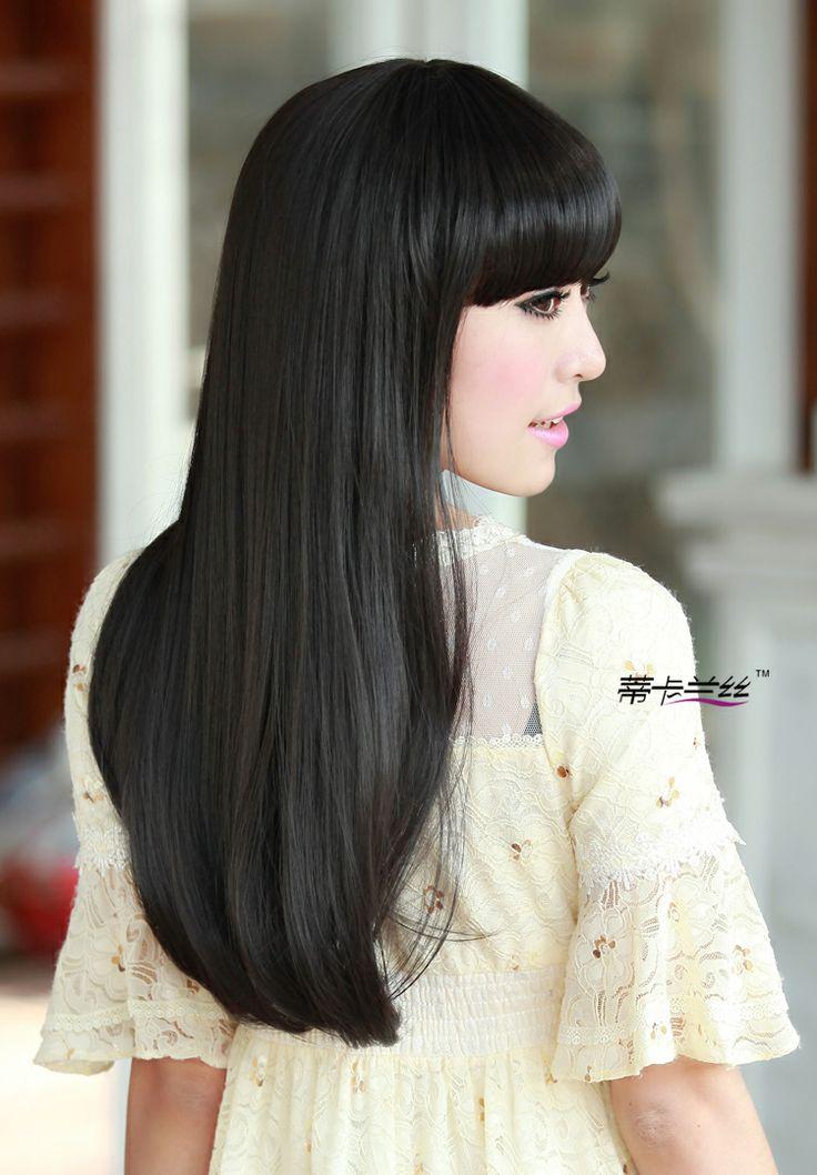 pelo largo negro facial