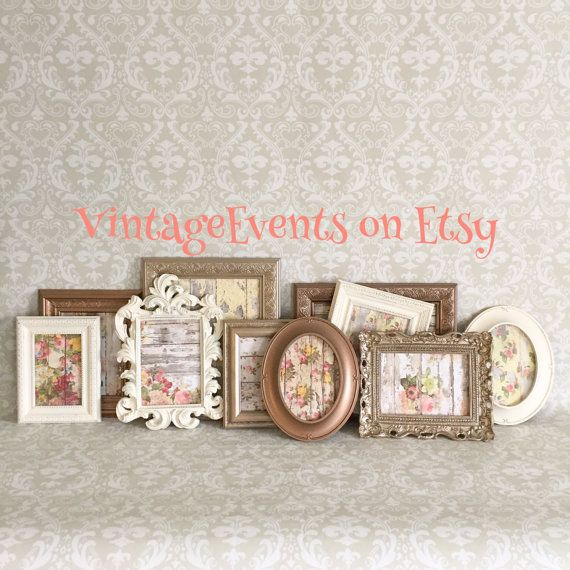 Gallery Wall  Vintage Style PICTURE FRAMEs  by VintageEvents