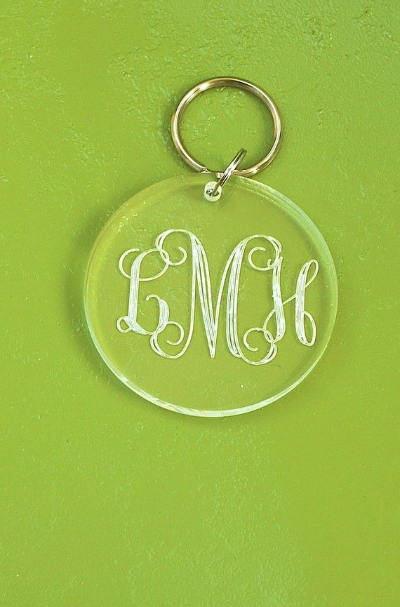 Engraved Key Chain: Engraved Key, Keys, Initial, List, Accessories, Key Chains 3, Embroidery Monograms, Bridesmaid Gift