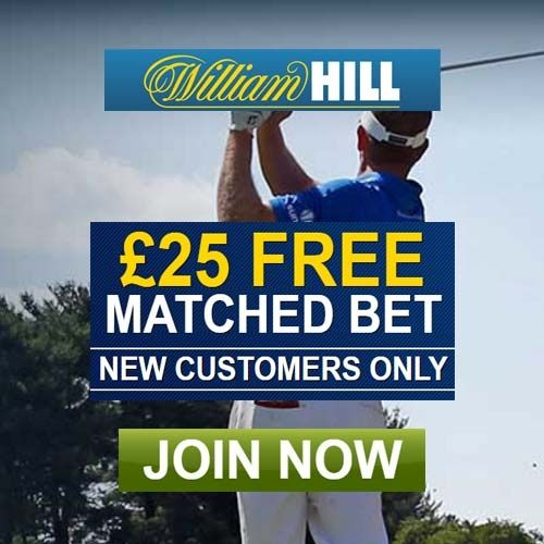 William Hill Sports Promotion Codes August 2016 for a £25 Free Golf Bet. William…