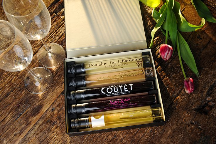 A Luxury wine tasting hamper... Wine lovers can savour a great glass of 5 different French wines whilst beginners can develop their senses discovering great wines without opening a bottle. WIT (Wine In Tube) is a special patented glass jar and contains 100ml (one glass) of wine.